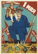 Vintage Russian poster - Long live May 1st 1928